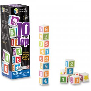 Learning Resources 1767 10 To The Top Addition Game
