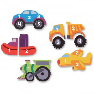 Learning Resources 7726 Magnetic Counting Vehicle Puzzles
