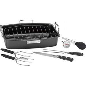 "Cuisinart ASR-1713PS 17"" X 13"" Roaster with Removable Rack"