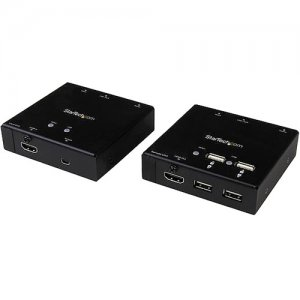StarTech.com ST121USBHD HDMI over CAT6 Extender with 4-port USB Hub - 165 ft (50m) - 1080p
