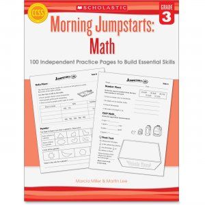 Scholastic 545464161 Grade 3 Morning Jumpstart Math Workbook SHS545464161