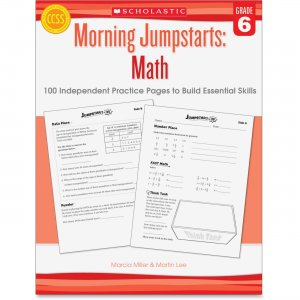 Scholastic 545464196 Grade 6 Morning Jumpstart Math Workbook SHS545464196