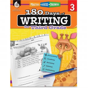 Shell 51526 3rd Grade 180 Days of Writing Book SHL51526