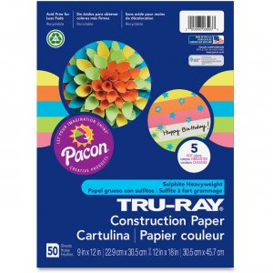Tru-Ray 6597 Hot Color Sulphite Construction Paper PAC6597