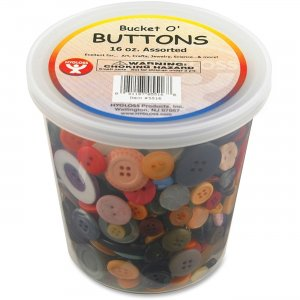 Hygloss 5516 Bucket 'O Buttons HYX5516