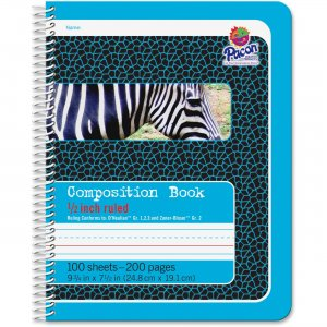 "Pacon 2429 1/2"" Short Way Ruled Composition Book"