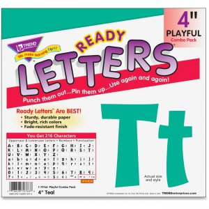 "TREND 79768 4"" Playful Ready Letters Combo Pack TEP79768"