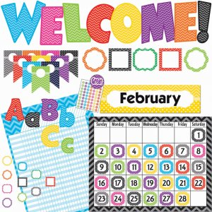 Teacher Created Resources 9589 Chevon Accents Board Set