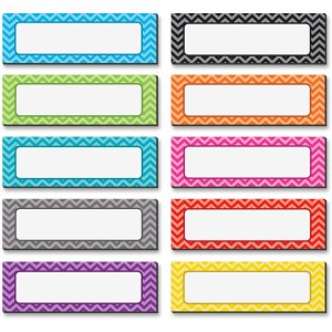 Teacher Created Resources 77204 Chevron Labels Magnet Accents TCR77204