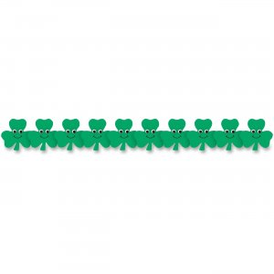 Hygloss 33658 Happy Shamrocks Border Strips HYX33658