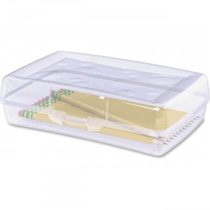 Sparco 23810 Clear Plastic Pencil Box
