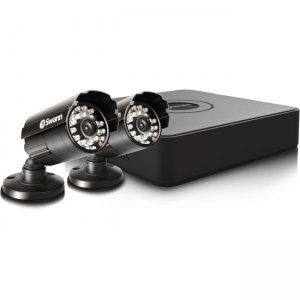 Swann SWDVK-4ALP12-US Compact Security System - 4 Channel Digital Video Recorder & 2 Cameras