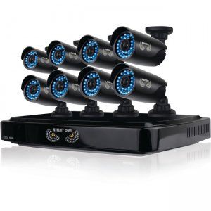 Night Owl CL-882-720P 8 Channel Smart HD Video Security System with 2 TB HDD and 8 x 720p