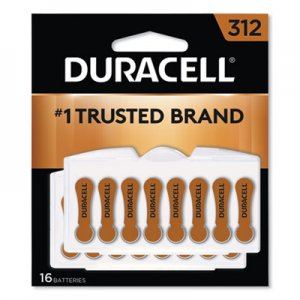 Duracell DURDA312B16ZM09 Button Cell Hearing Aid Battery #312, 16/Pk