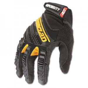 Ironclad IRNSDG205XL SuperDuty Gloves, X-Large, Black/Yellow, 1 Pair