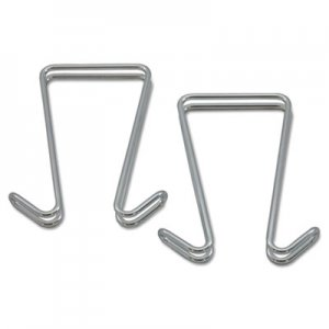 Alera ALECH2SR Double Sided Partition Garment Hook, Silver, Steel, 2/PK