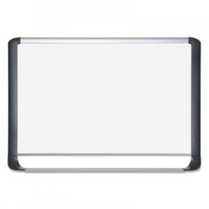 MasterVision BVCMVI030201 Lacquered steel magnetic dry erase board, 24 x 36, Silver/Black