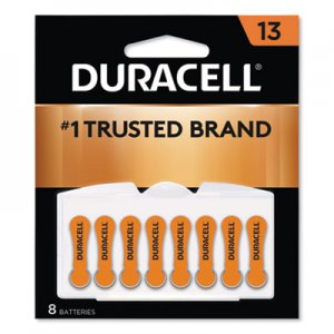 Duracell DURDA13B8ZM09 Button Cell Lithium Battery, #13, 8/Pk