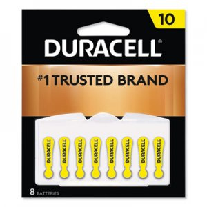 Duracell DURDA10B8ZM10 Lithium Medical Battery, 3V, #10, 8/Pk