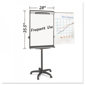 "MasterVision BVCEA48062119 Tripod Extension Bar Magnetic Dry-Erase Easel, 69"" to 78"" High, Black/Silver"