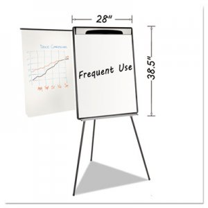 "MasterVision BVCEA23062119 Magnetic Gold Ultra Dry Erase Tripod Easel W/ Ext Arms, 32"" to 72"", Black/Silver"