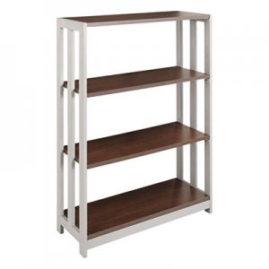 Linea Italia LITTR735MOC Trento Line Bookcase, Three-Shelf, 31-1/2w x 11-5/8d x 43-1/4h, Mocha