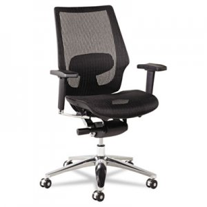 Alera ALEKE4218 K8 Series Ergonomic Multifunction Mesh Chair, Aluminum Base/Frame, Black