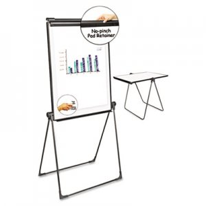 Genpak UNV43030 Foldable Double Sided Dry Erase Easel, 28.5 x 37.5, White/Black