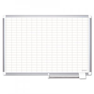 MasterVision BVCMA2792830 Grid Planning Board, 1 x 2 Grid, 72 x 48, White/Silver