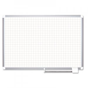"MasterVision BVCMA2747830 Grid Planning Board, 1"" Grid, 72 x 48, White/Silver"