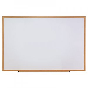 Genpak UNV43621 Dry-Erase Board, Melamine, 72 x 48, White, Oak-Finished Frame