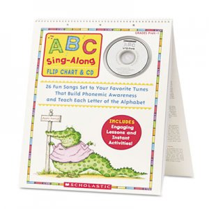 Scholastic SHSSC978439 ABC Singalong Flip Chart, 26 pages, CD