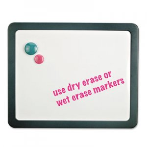 Genpak UNV08165 Recycled Cubicle Dry Erase Board, 15 7/8 x 12 7/8, Charcoal, with Three Magnets