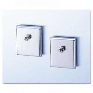 Genpak UNV08172 Cubicle Accessory Mounting Magnets, Silver, Set of 2