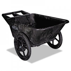 Rubbermaid Commercial RCP5642BLA Big Wheel Agriculture Cart, 300-lb Cap, 32-3/4 x 58 x 28-1/4, Black