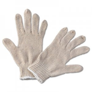 Boardwalk BWK782 String Knit General Purpose Gloves, Large, Natural, 12 Pairs