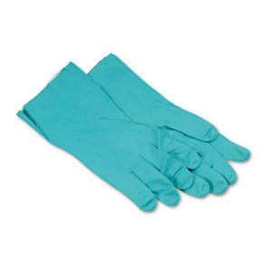 Boardwalk BWK183XL Nitrile Flock-Lined Gloves, X-Large, Green, Dozen