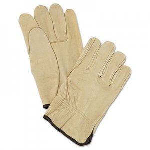 MCR Safety MPG3400L Unlined Pigskin Driver Gloves, Cream, Large, 12 Pairs