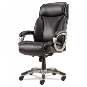 Alera ALEVN4119 Veon Series Executive HighBack Leather Chair, Coil Spring Cushioning,Black