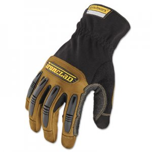 Ironclad IRNRWG203M Ranchworx Leather Gloves, Black/Tan, Medium