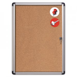 MasterVision BVCVT630101690 Slim-Line Enclosed Cork Bulletin Board, 28 x 38, Aluminum Case