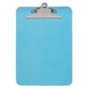 "Genpak UNV40307 Plastic Clipboard w/High Capacity Clip, 1"", Holds 8 1/2 x 12, Translucent Blue"