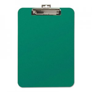 "Mobile OPS BAU61626 Unbreakable Recycled Clipboard, 1/4"" Capacity, 8 1/2 x 11, Green"