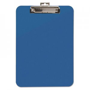 "Mobile OPS BAU61623 Unbreakable Recycled Clipboard, 1/4"" Capacity, 8 1/2 x 11, Blue"