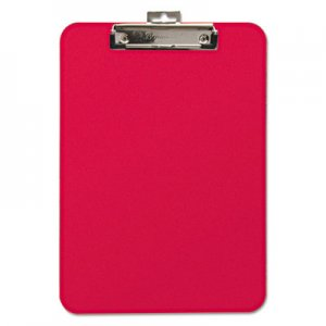 "Mobile OPS BAU61622 Unbreakable Recycled Clipboard, 1/4"" Capacity, 8 1/2 x 11, Red"