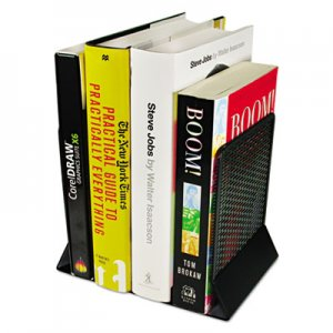 Artistic AOPART20008 Urban Collection Punched Metal Bookends, 6 1/2 x 6 1/2 x 5 1/2, Black