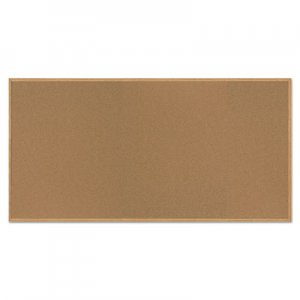 MasterVision BVCSF362001233 Value Cork Bulletin Board with Oak Frame, 48 x 96, Natural