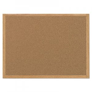 MasterVision BVCSF152001239 Value Cork Bulletin Board with Oak Frame, 36 x 48, Natural