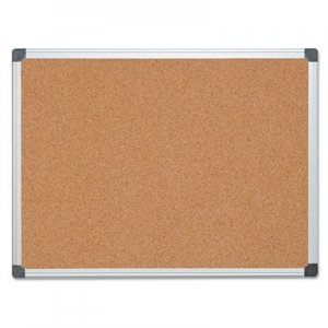 MasterVision BVCCA051170 Value Cork Bulletin Board with Aluminum Frame, 36 x 48, Natural