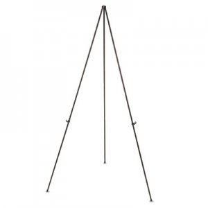 "MasterVision BVCFLX04201MV Instant Easel, 61 1/2"", Black, Steel, Lightweight"